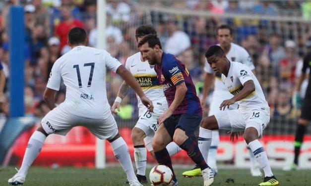 Boca fue sacudido en su visita a Barcelona